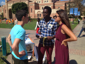 Task Force organizer Malcolm Shanks in 2012 training UCLA students on talking to voters about the death penalty.