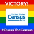 Census rainbow flag VICTORY 200X200