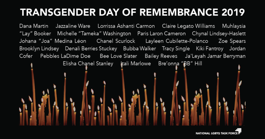 Transgender Day of Remembrance 2019
