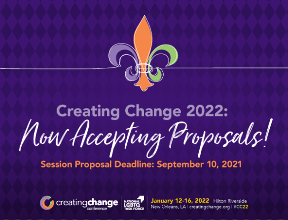 Creating Change 2022 Now Accepting Proposals